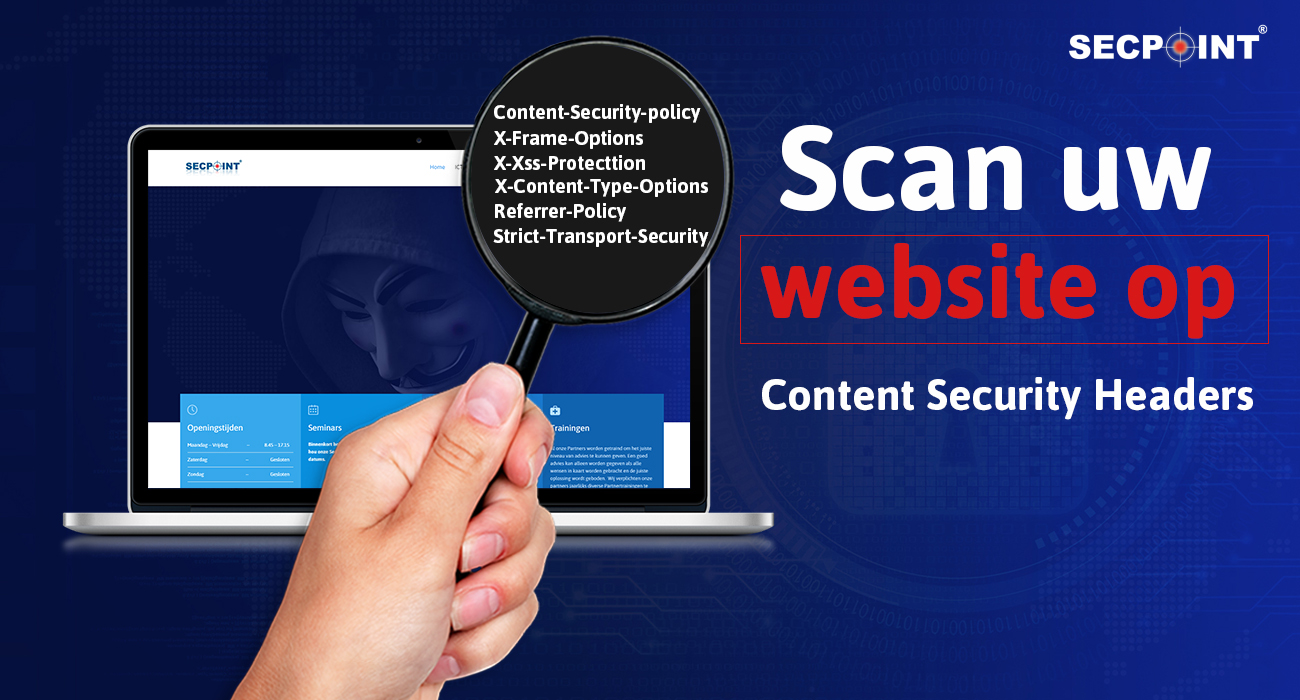 Scan uw website naar HTTP Content Security Headers