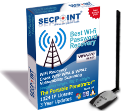 SecPoint Portable Penetrator VMWare 1024IP 3Year WiFi Antenna
