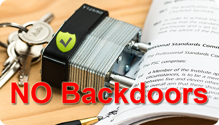 no backdoors